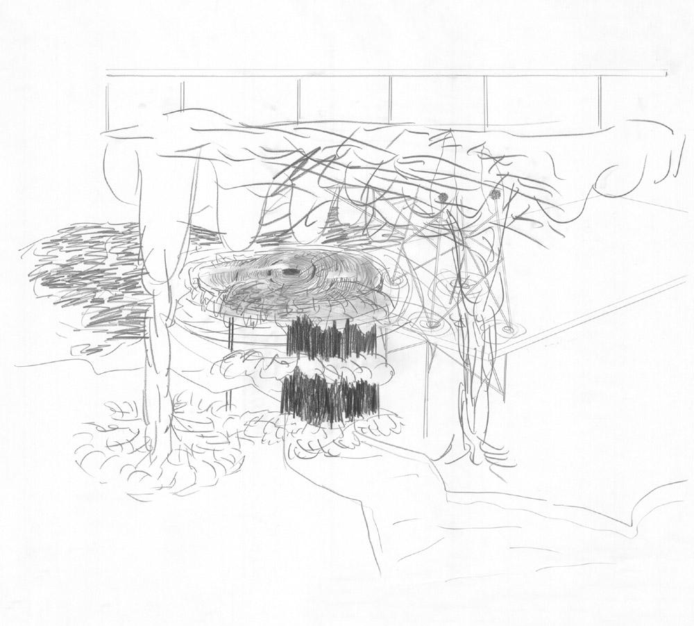 Transmission Alex Gross drawing